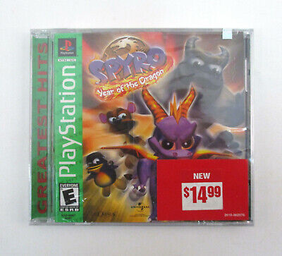 SPYRO: YEAR OF THE DRAGON Sony PlayStation Video Game GREATEST HITS 2000 NEW