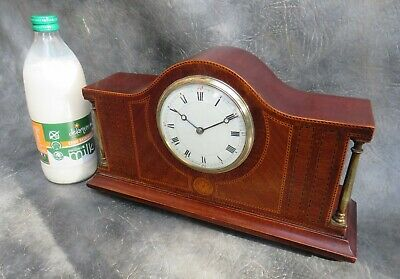 A Nice Quality Mahogany Cased Edwardian 8 Day Mantle Clock * Serviced *