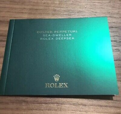 Brand New Rolex Official Deepsea Sea Dweller Booklet Manual