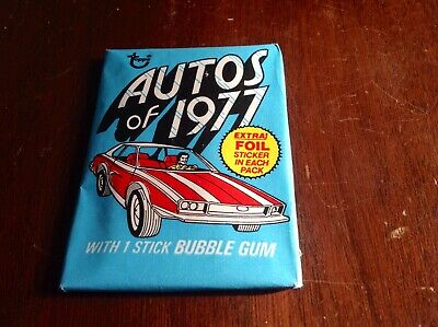 """(1) Unopened Mint Wax Pack- 1977 Topps """"Autos Of 1977"""""""