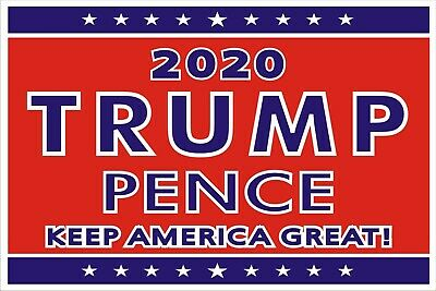 "Trump/Pence 2020 - Political Campaign Yard Sign w/Stake-Double-Sided 18"" x 12"""