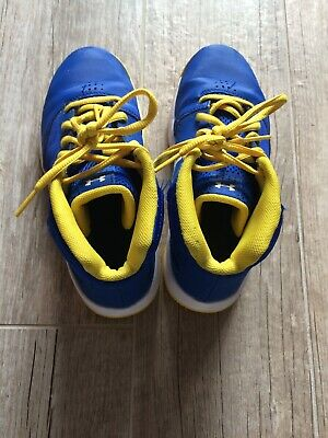 Under Armour Kids Size 2.5Y Basketball Shoes Boys Blue Yellow Youth 2.5