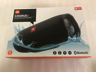 Jbl Charge 3 Portable Bluetooth Wireless 40W Speaker Black Usb Rechargeable