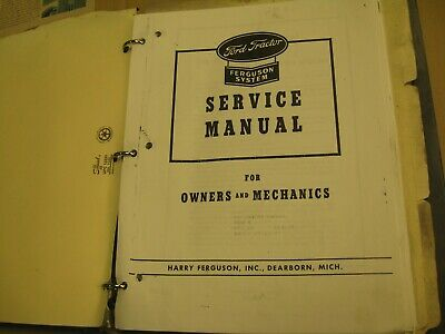 1943 Ferguson Ford 2N 9N Tractor Repair Service Manual, Reproduction in binder
