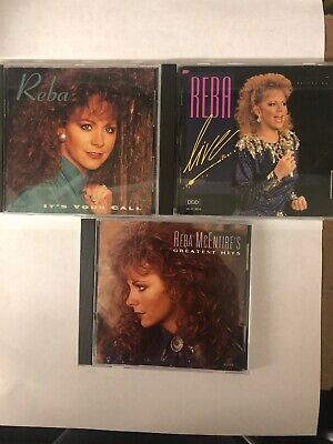 Reba McEntire - Greatest Hits - It's Your Call - Live -  3 CD Lot