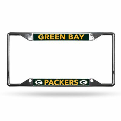 Green Bay Packers NFL Lightweight Chrome Metal License Plate Frame