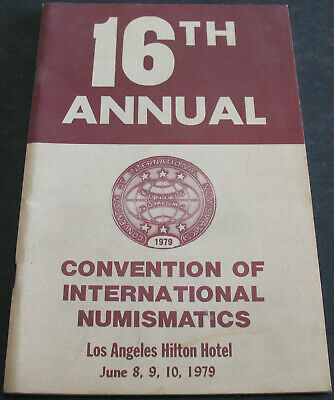 16th Annual Convention Of International Numismatics 1979 Scarce Reference