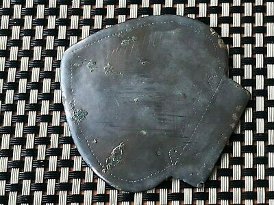 Ancient Late Roma Or Byzantine Medieval Bronze Heart-Shaped Applique 500-800 Ad
