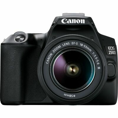 Canon EOS 250D/Rebel SL3 with EF-S 18-55mm f/3.5-5.6 III Lens (Black)