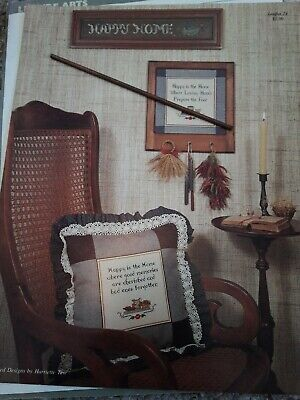 Crossstitch Leaflet Happy Home By HARRIETTE Tew