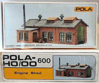 Pola 600 Engine Shed Oo, Ho Gauge Model Railway Layout Building Kit Suit Hornby