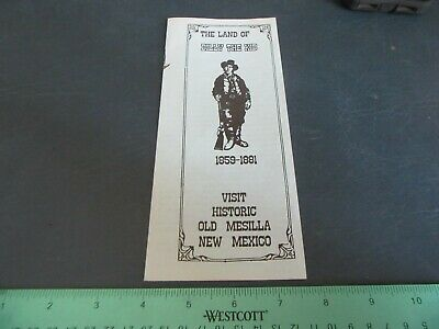 Vintage 1991 Brochure Billy the Kid Old Mesilla New Mexico Lot 20-8-CB