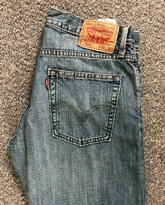 Mens Levi Strauss & Co 514 Slim Straight Fit Jeans W32 L32 Blue Levis Levi's