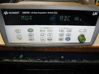 HP - Agilent - Keysight 34972A LXI Data Acquisition W/34901A 20 CHANNEL MULTIPLE