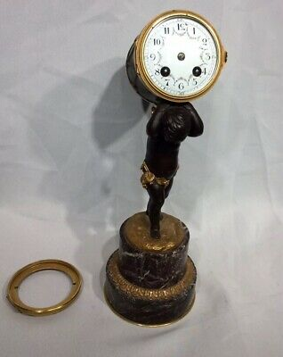 Ormolu and Bronze Cherubin Au Tambour Clock French Mantle Clock Project