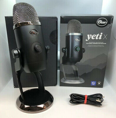 Blue Microphones Yeti X Professional USB Microphone Black Gaming Streaming MINT