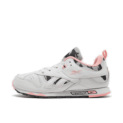 Girls' Big Kids' Reebok Classic Leather Recrafted Casual Shoes Grey/Pink/White F