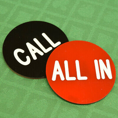 """ALL IN / CALL  2.5"""" button great for POKER TOURNAMENT GAMES"""