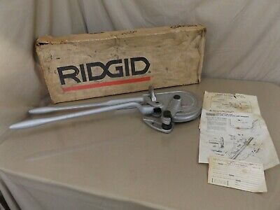 Ridgid No.378 Radius Geared Ratchet Ratcheting Tube Tubing Bender + Box NOS?