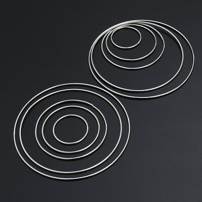 10X Metal Ring Hoops for Craft Dream Catcher Butterfly Ring Feather Pentacle