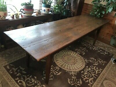 Antique Wood Table 1840's German Tavern Table