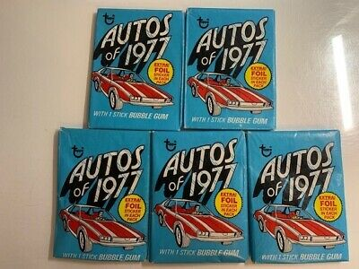 Topps Autos of 1977 UNOPENED Packs (5)