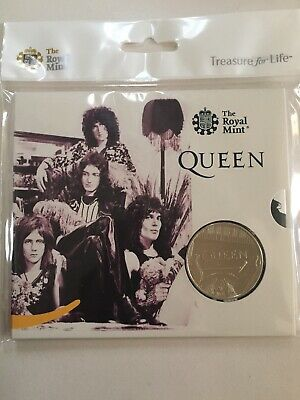 2020 Music Band Legend QUEEN £5 FIVE POUND Coin BU Royal Mint Sealed  Pack
