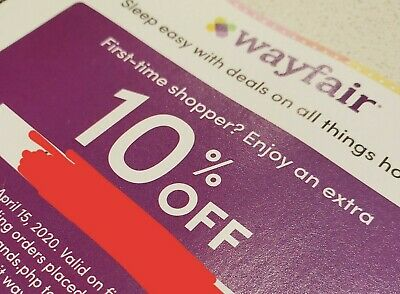 WayFair 10% Off Coupon! First Time Shopper Only Expires 04.15.2020 Quick Fast