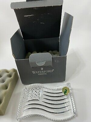 Waterford Crystal American Flag Paperweight New In Box
