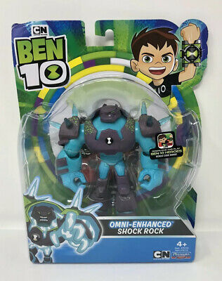 BEN 10 CARTOON NETWORK OMNI-ENHANCED SHOCK ROCK 4 INCH ACTION FIGURE NEW HTF!