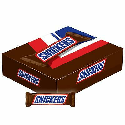 Snickers Mars Chocolate con Leche 55ml Candy Barras 48CT Caja - Caramelo Turrón