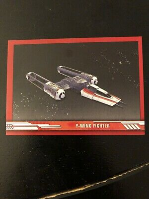 2019 Topps Star Wars Rise Skywalker Y-Wing Fighter /149 SV2 Red Walmart Exclusiv