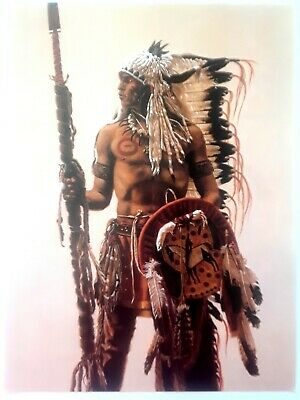 """SIOUX SUBCHIEF""""- NATIVE AMERICAN INDIAN Art Print by JAMES BAMA,  9x12"""