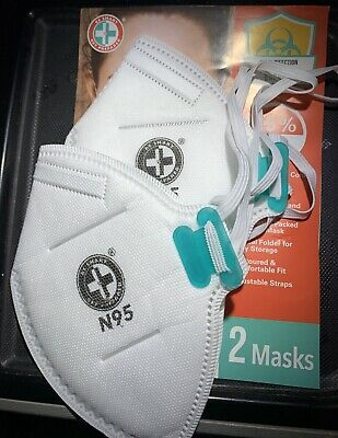 N95 Mask NIOSH Approved Particulate Respirator Mask (2 Mask Per Pack)