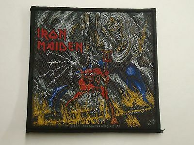 Iron Maiden Number Of The Beast Woven Patch
