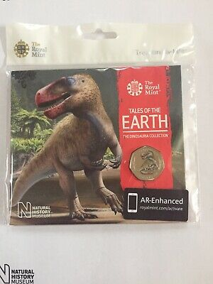 2020 Megalosaurus/ Dinosaur 50p COLOURED BU Coin RM Sealed Pack TO PREORDER