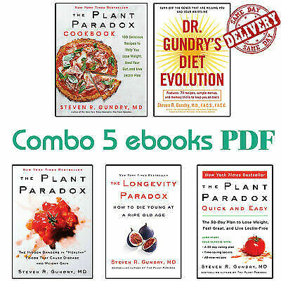 The Plant Paradox by Dr. Steven R Gundry - KINDLE EDITION - Set of 5 Resources