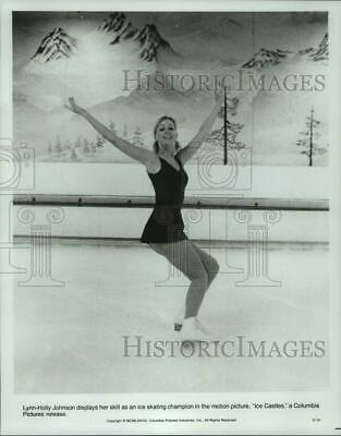 "1978 Press Photo Lynn-Holly Johnson displays ice skating skills in ""Ice Castles"""