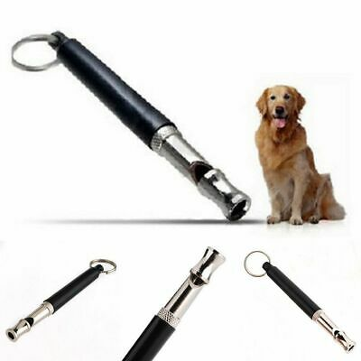 90 Millimeter Adjustable Pet Dog Training Whistle Pitch Ultrasonic Sound Black