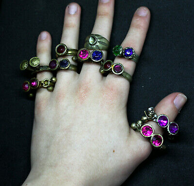 Boho Rings (Kuchi Ring Set) - Antique Post-medieval Joblot 4