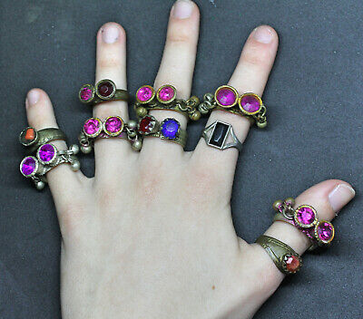 Boho Rings (Kuchi Ring Set) - Antique Post-medieval Joblot 5