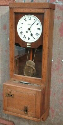 Antique Oak Wall Gledhill- Brook Time Recorder
