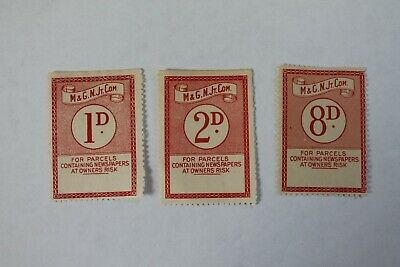 Midland & Great Northern Joint Committee railway parcel stamps (3)