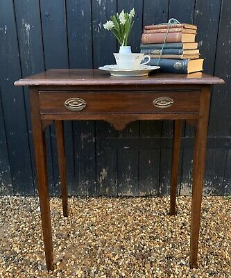 Petite Oak Georgian Console Side Table With Drawer