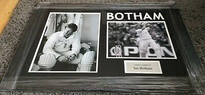 Ian Botham England Cricket Signed 16 X 12  Photo In A Frame AFTAL #209 Proof Coa