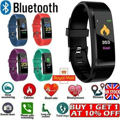 Fitness Smart Watch Activity Tracker Women Mens Kids Fitbit Android iOS Sport
