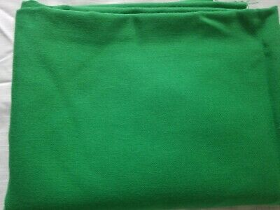 """Vintage Green Cotton Polyester Broadcloth Fabric 1-piece 58"""" W x 1 yd L new"""