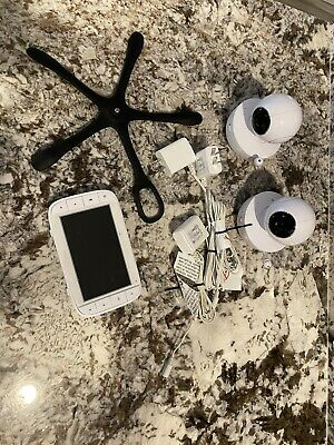 Motorola MBP36XL Portable Video Baby Monitor - White Two (2) Camera Bundle