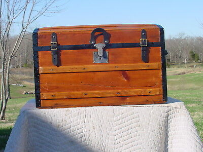 Antique Trunk Pat'd 1870  Great Restoration As Much As150 Yrs Old  Rare Trunk