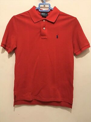 Kids Polo Ralph Lauren T Shirt Medium Dark Orange Age 10-12 Years